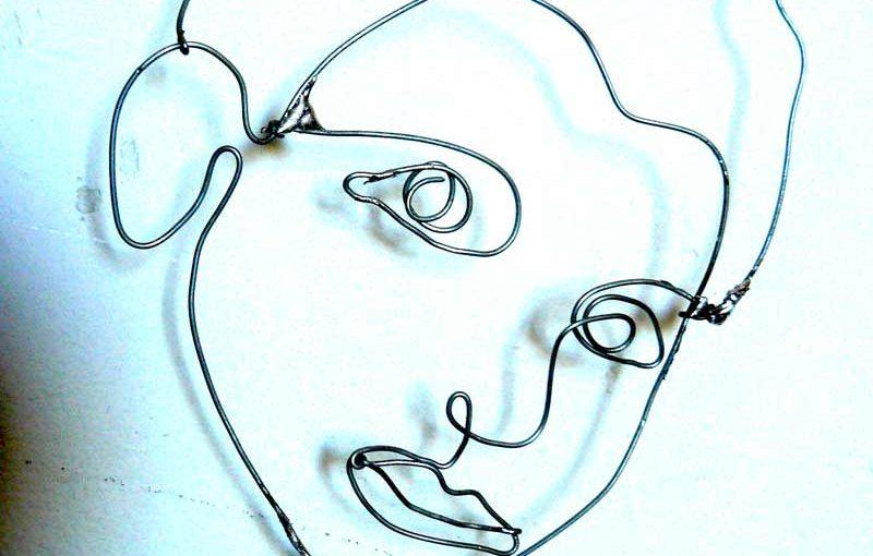 portrait sur le fil