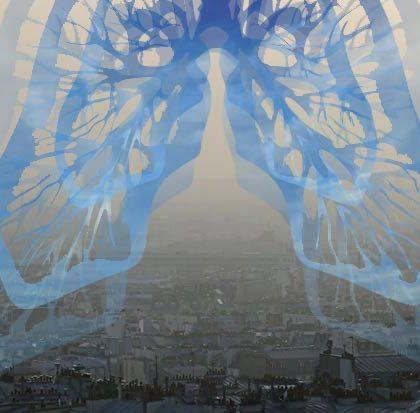 Respire Paris! Collage numérique de véronique egloff - pollution et art