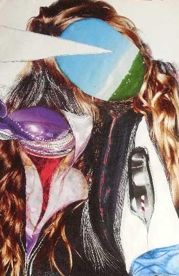 femme-rêveuse- collage Véronique Egloff-woman