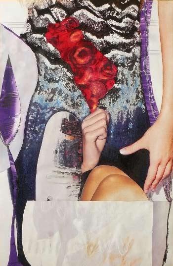 femme déterminée - collage Véronique Egloff-woman