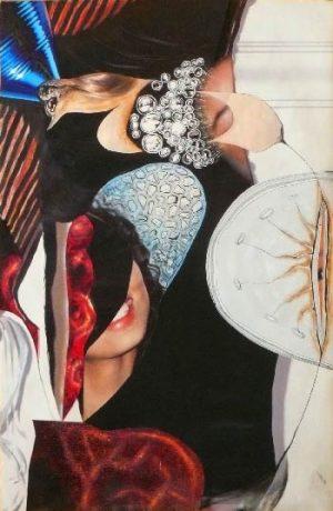 """série """"femme recomposée"""" femme intuitive collage (90x60cm)- veronique egloff"""
