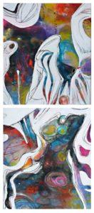la corneille pressée de la soif ou de la nécessité d'inventivité peinture veronique egloff