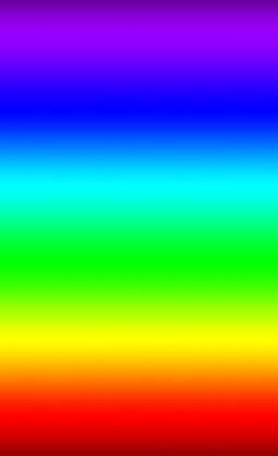 agencement des 7 couleurs de l'arc en ciel - colors of the rainbow